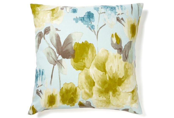 Mandolin 20x20 Cotton Pillow, Lime
