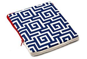 Puzzle iPad Case, Blue