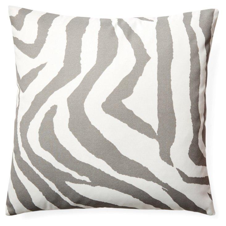 Zebe 20x20 Outdoor Pillow, Gray