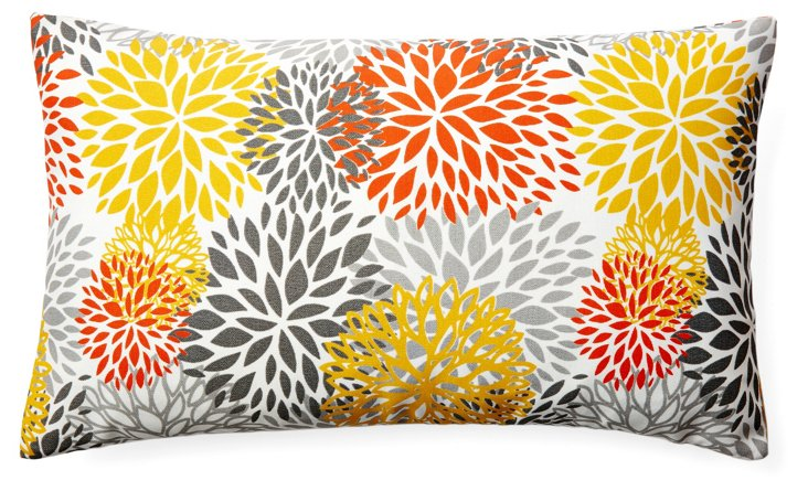 Fireworks 12x20 Outdoor Pillow, Orange