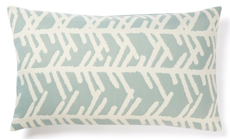 Cactus 12x20 Outdoor Pillow, Blue