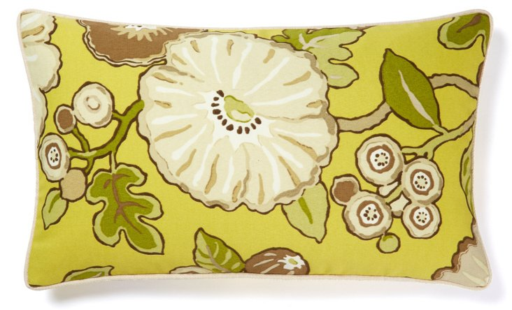 Happy 12x20 Outdoor Pillow, Chartreuse