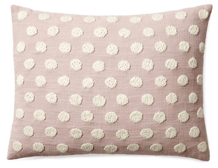 Dots 12x16 Pillow, Rose