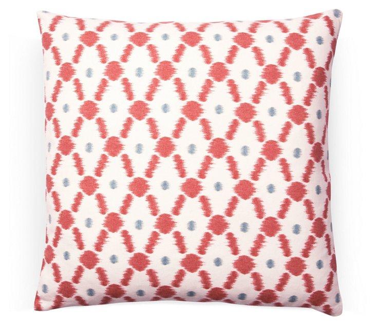 Fenced 20x20 Cotton Pillow, Orange