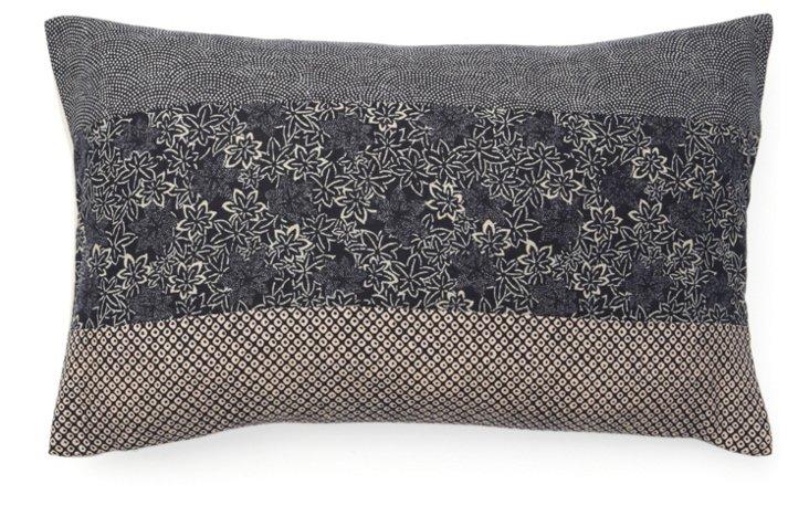 Kio Pieces 12x20 Cotton Pillow, Navy