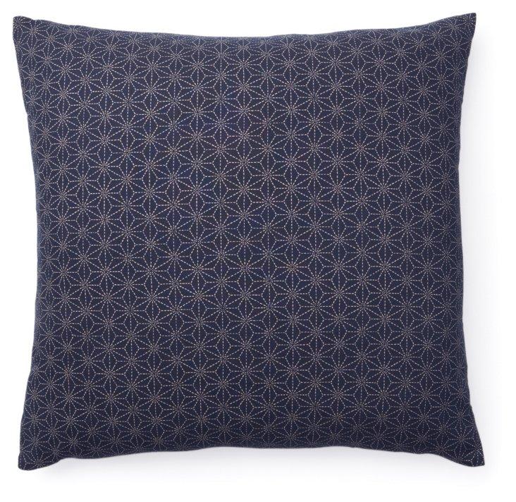 Kio Star 20x20 Cotton Pillow, Navy