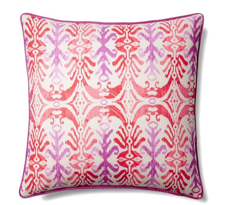 Mud 20x20 Cotton Pillow, Fuchsia