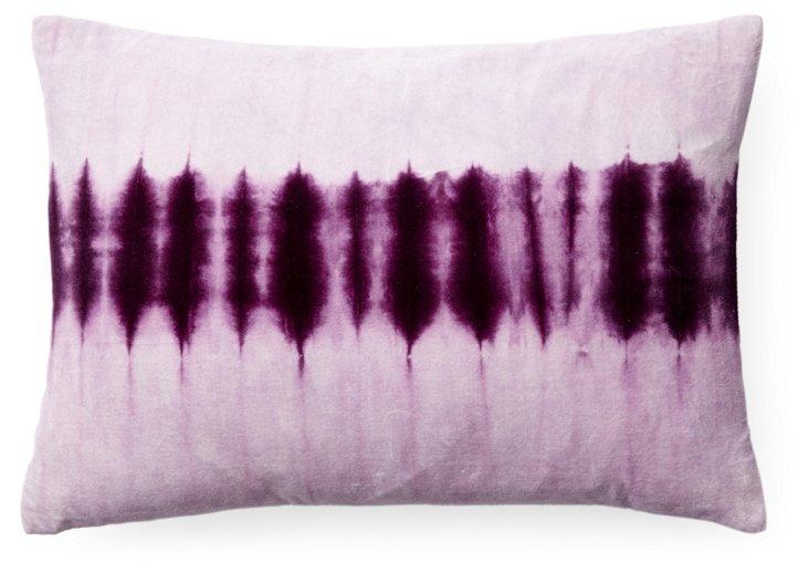 Taiga 14x20 Cotton Pillow, Purple