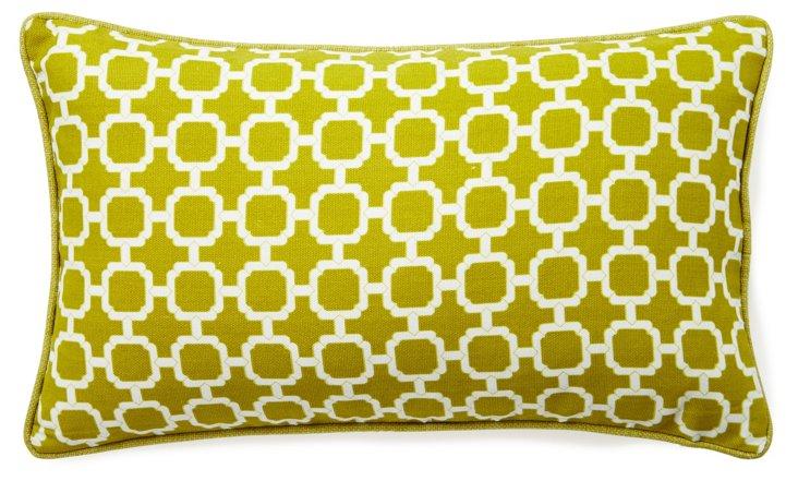 Block 12x20 Outdoor Pillow, Green