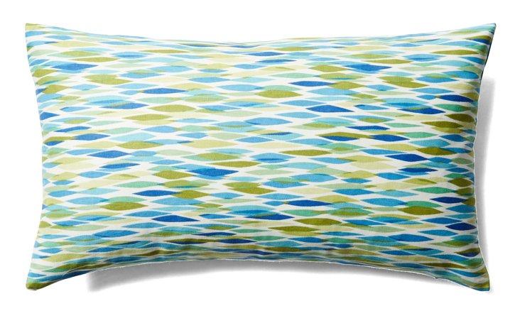 Pan 12x20 Cotton Pillow, Blue