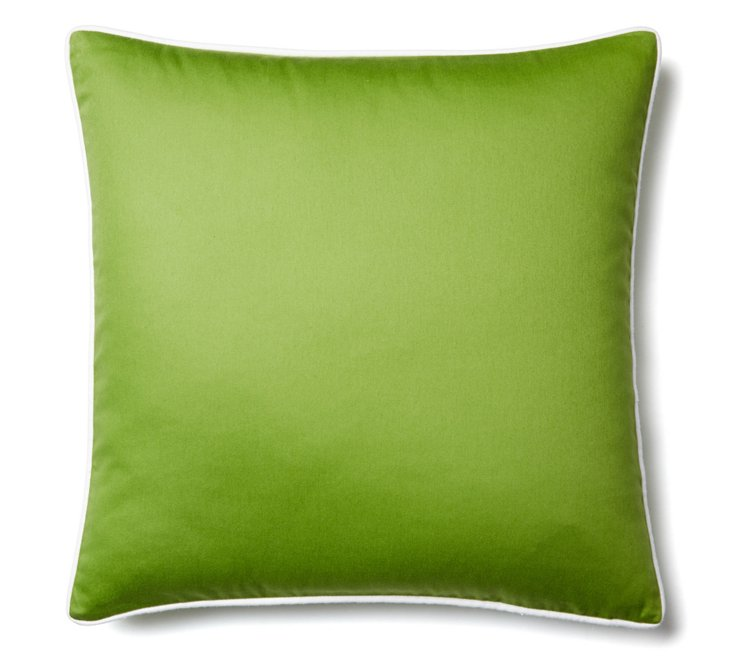 Solid 20x20 Cotton Pillow, Green