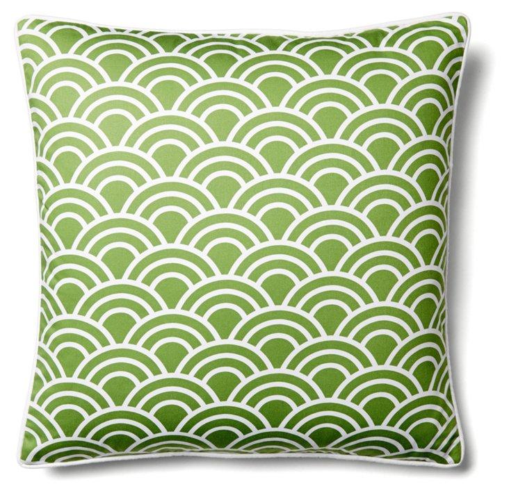 Arco 20x20 Cotton Pillow, Green