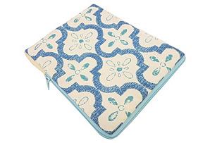 iPad Case, Blue Tiles