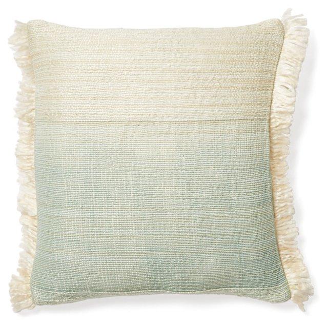 Nomad 16x16 Cotton Pillow, Celadon