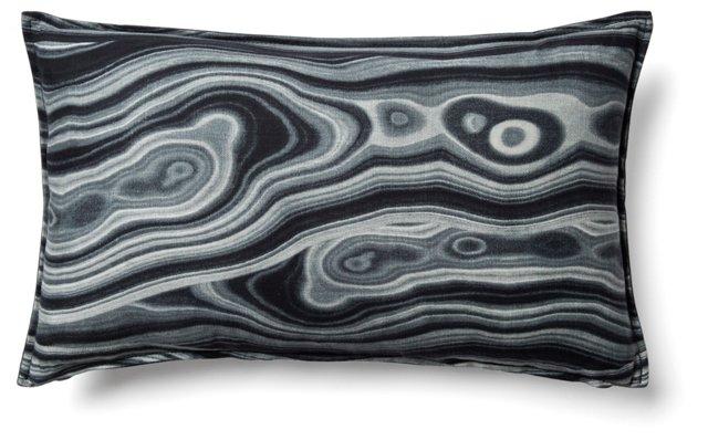 Cortesa 12x20 Cotton Pillow, Black