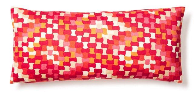Malin 12x24 Cotton Pillow, Pink