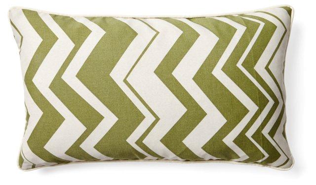 Chevron 12x20 Pillow, Green