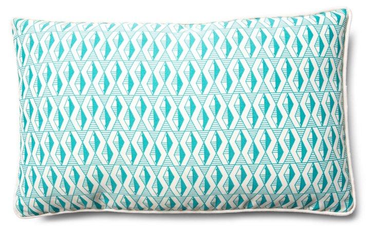 Gef 12x20 Outdoor Pillow, Teal