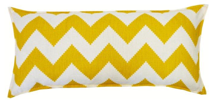 Chevron 12x24 Cotton Pillow, Yellow