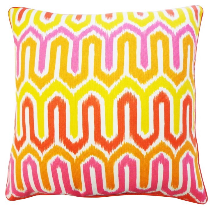 Energy 24x24 Outdoor Pillow, Yellow