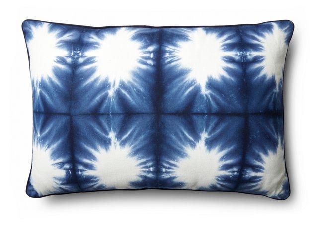 Cactus 16x24 Cotton Pillow, Navy