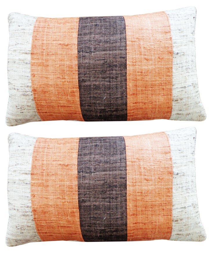 S/2 Matka 12x20 Cotton Pillows, Multi