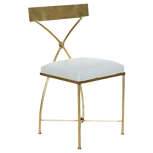 Ivey Side Chair, Gold Leaf