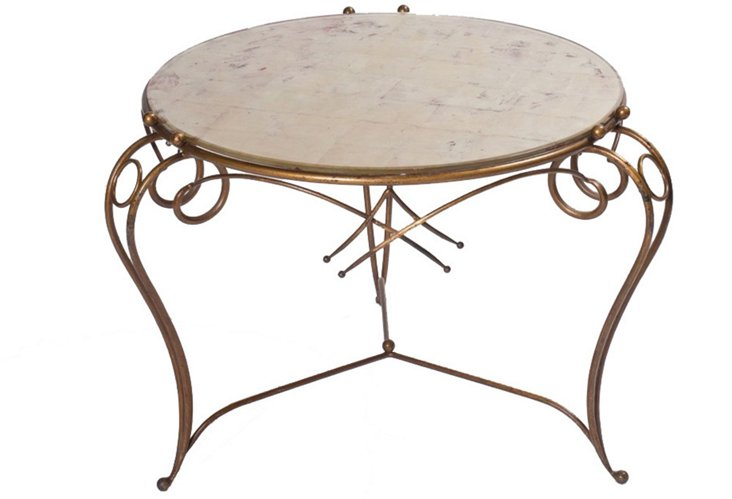 Rene Drouet Gold Leaf Table
