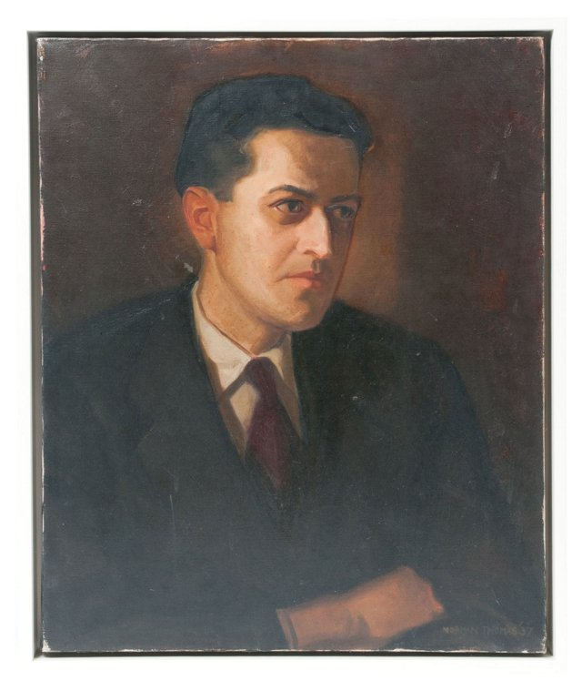 Norman Thomas Oil Painting