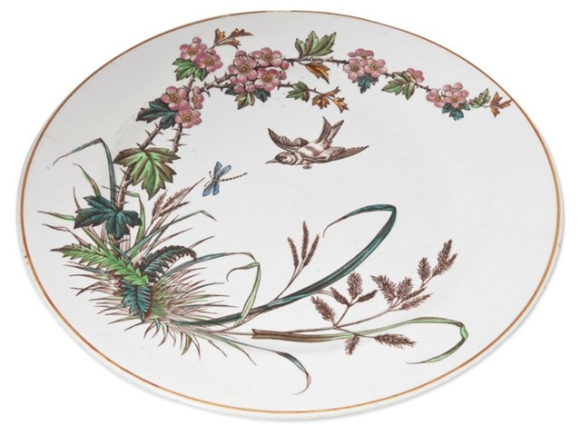 1800s English Transferware Plate
