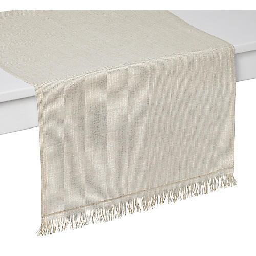 Venice Table Runner, Beige/Gold