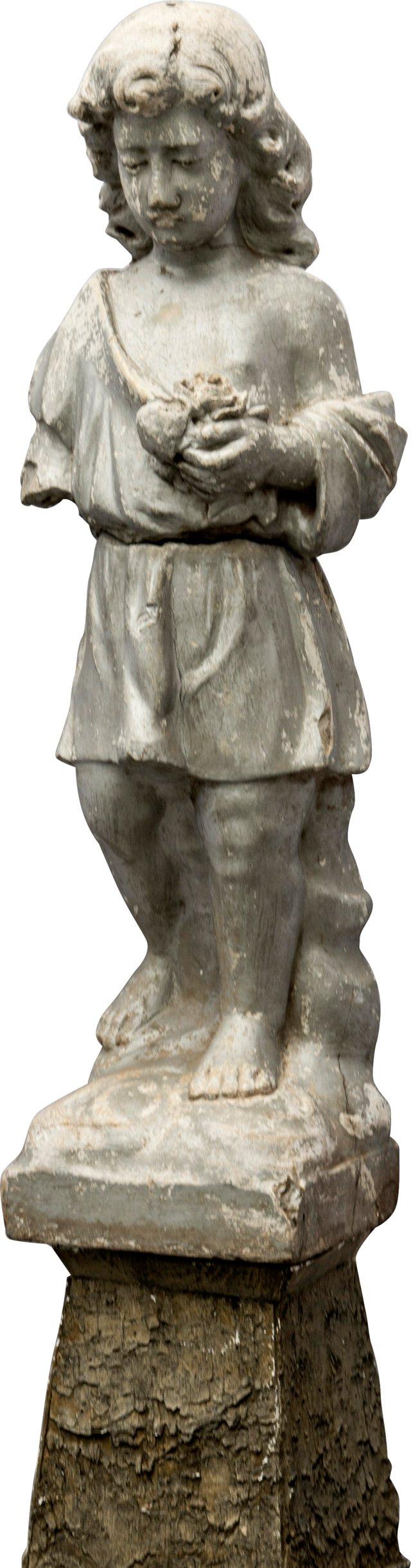 C. 1920 Child  Garden Statue