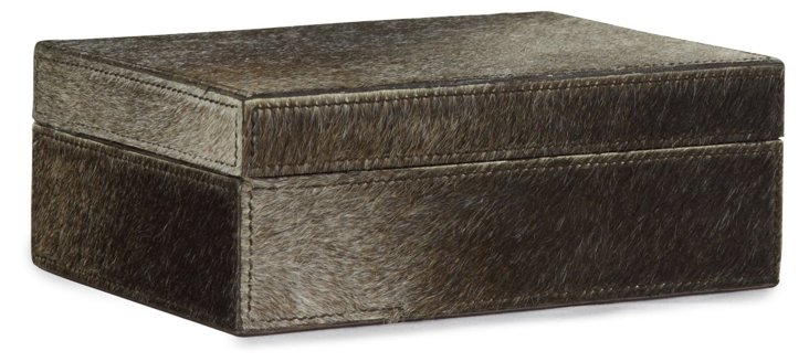 Chelsea Box, Natural Brown Hide