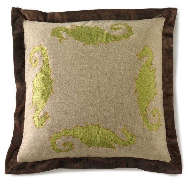 La Mer Pillow, Natural & Brown