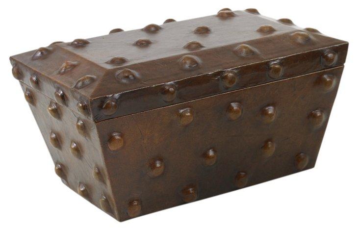 Large Thames Box, Antiqued Brown