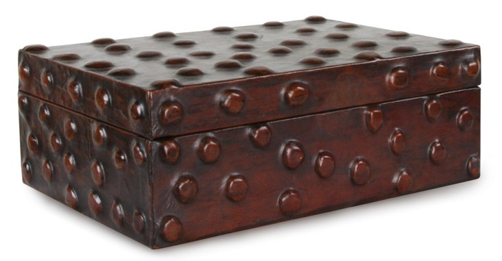 Thames Jewelry Box, Antiqued Burgundy