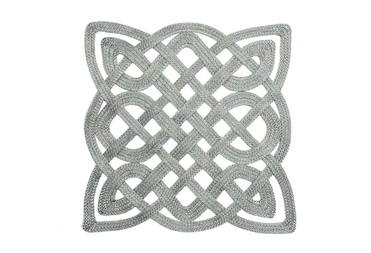 S/2 Gate Place Mats, Silver