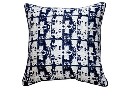 Ruins 22x22 Linen Pillow, Navy