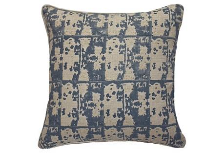 Ruins 22x22 Linen Pillow, Gray