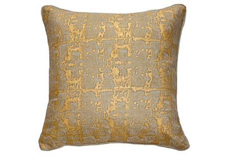 Ruins 22x22 Linen Pillow, Gold