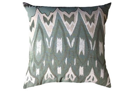Tunis 22x22 Cotton Pillow, Celadon