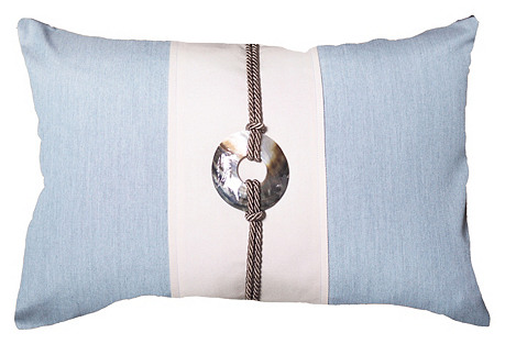 Outdoor 14x21 Pillow, Light Blue