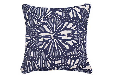 Outdoor Butterfly 22x22 Pillow, Navy