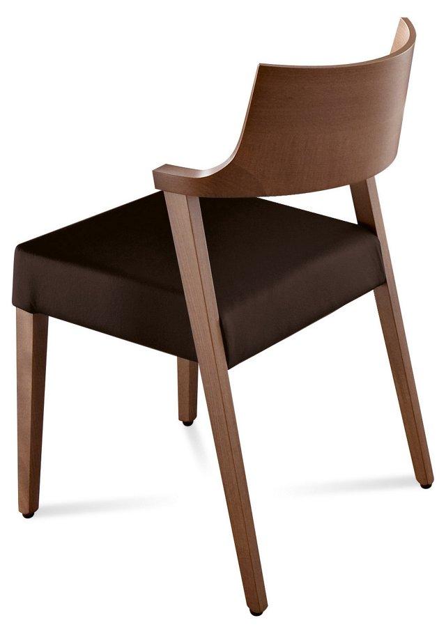 Lirica Dining Chair, Walnut