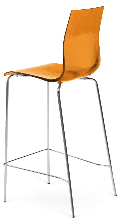 DNU. R-Gel Barstool, Silver/Orange