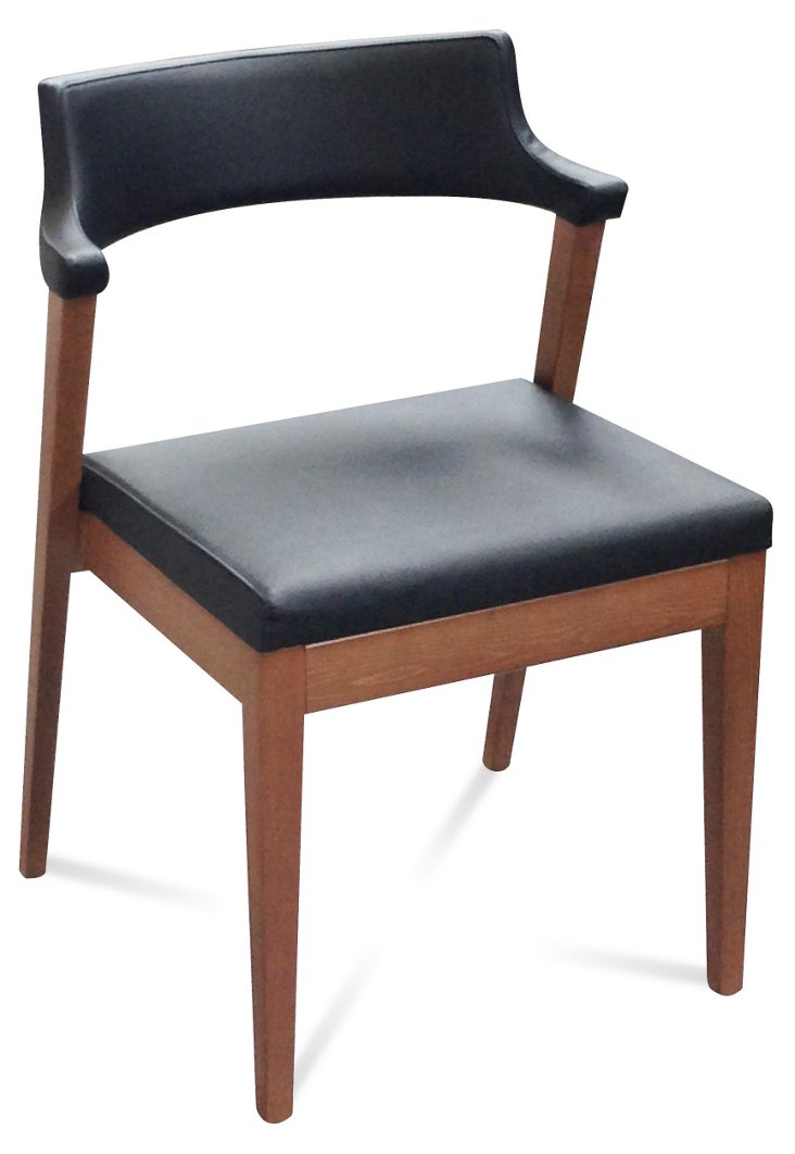 Lyra Chair, Walnut/Black