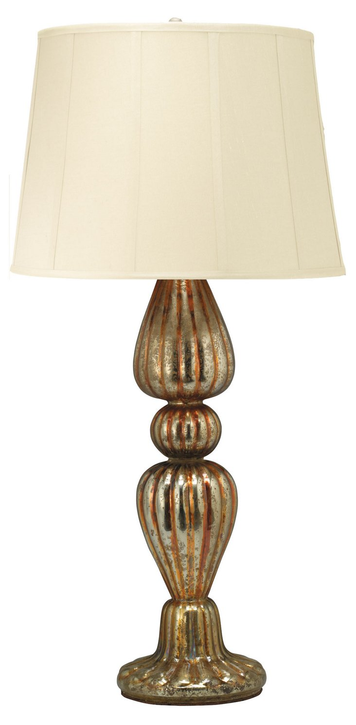 Deauville Table Lamp, Gold
