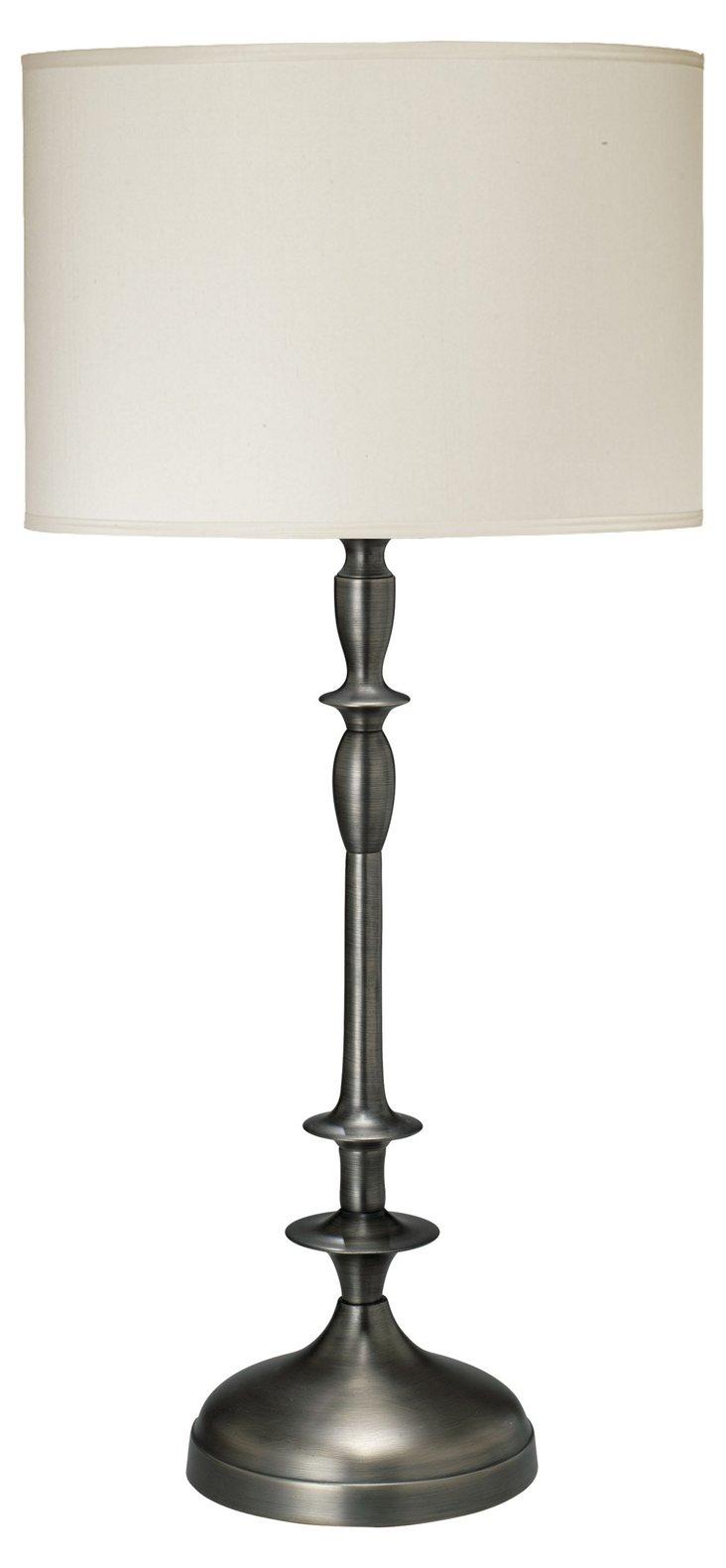 Petite Paro Table Lamp Gunmetal, Cream