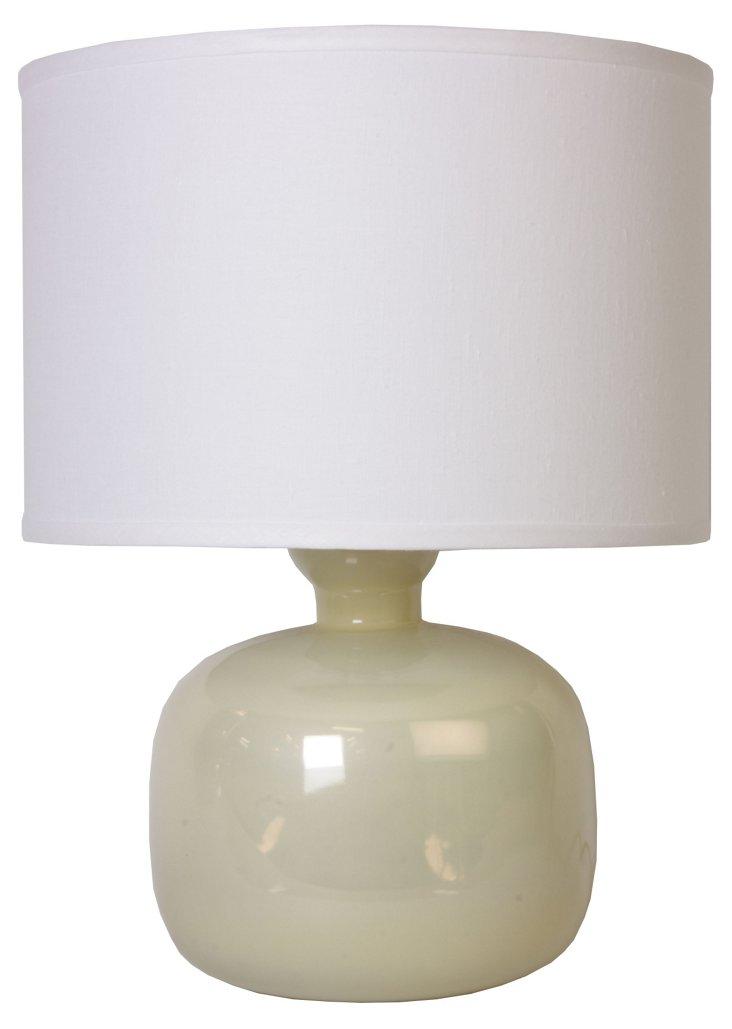Cecelia Pearl Enamel Table Lamp, White