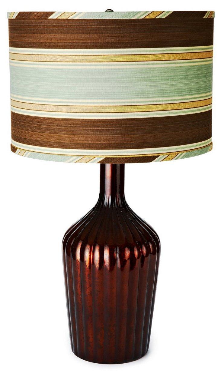 Thalia Lamp, Antique Chocolate/Aqua